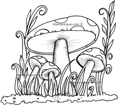 Trippy Mushroom Coloring Pages Ot mushroom colouring
