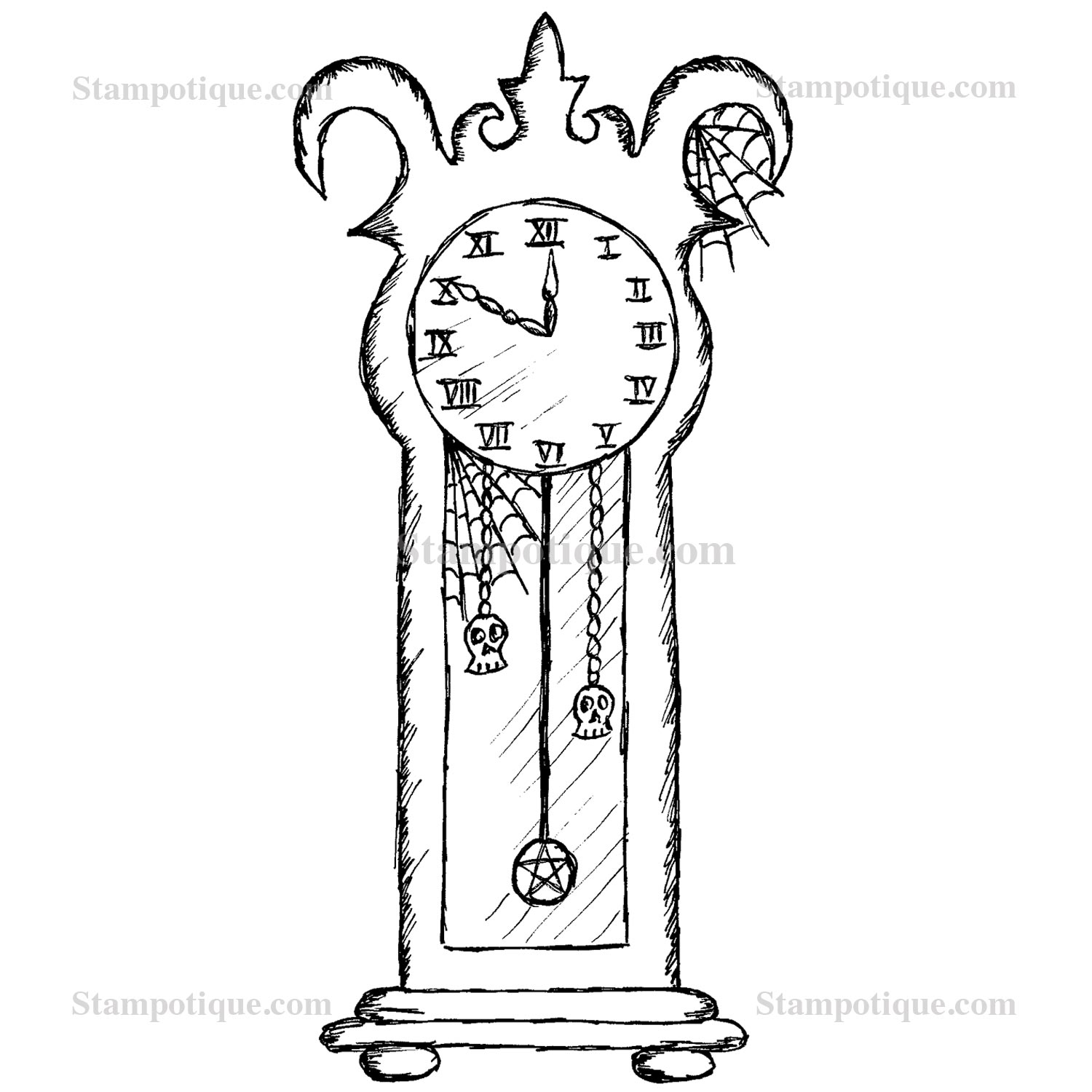 grandfather clock drawing. zoom grandfather clock drawing d