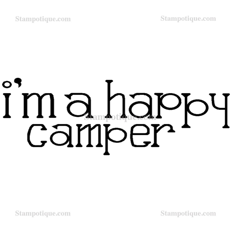 Happy Camper Text